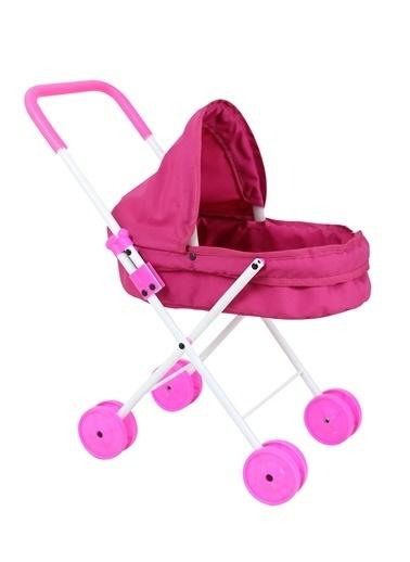 Rival Hedıyelı Prenses Katlanabilir, Metal Oyuncak Bebek ArabasıOyuncak Puset Fuşya